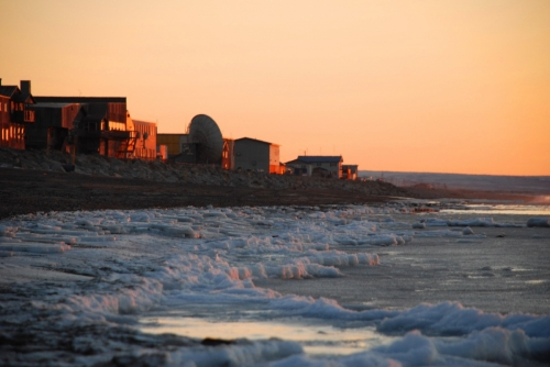 Sunset on the Bering Sea